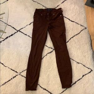 """Maroon lucky brand jeans 2/26 29"""" inseam"""